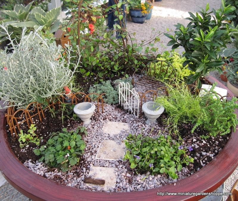 miniature garden example - Garden Ideas Using Pots