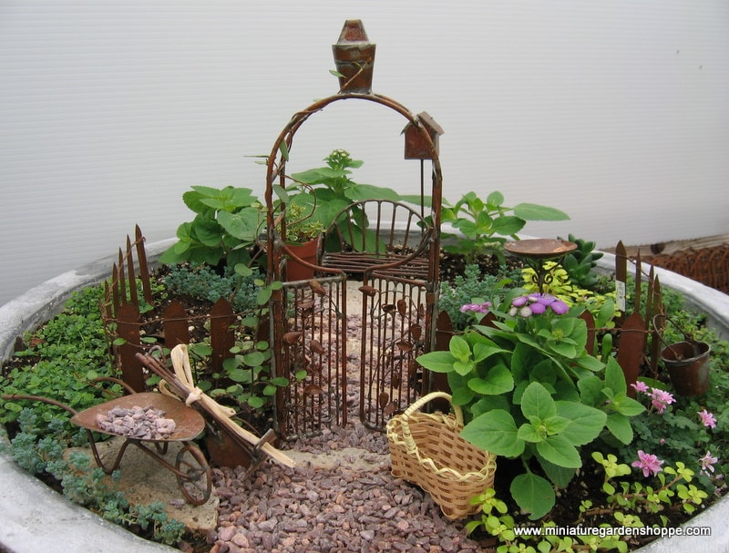 Miniature Garden Ideas amazing miniature garden design with patio furniture and lights Miniature Garden Example